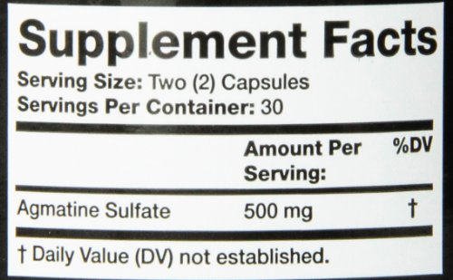 Olympian Labs Agmatine Sulfate Supplement, 60 Count