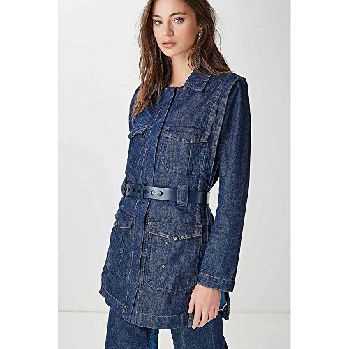 Trench Coat Mix Jeans Azul Denim - M