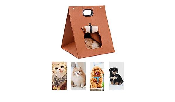 Wicemoon 1pcs Nido de Mascotas Suave C/álido Coj/ín Removible para Perro Gato Conejo Cueva Cama 26 26cm