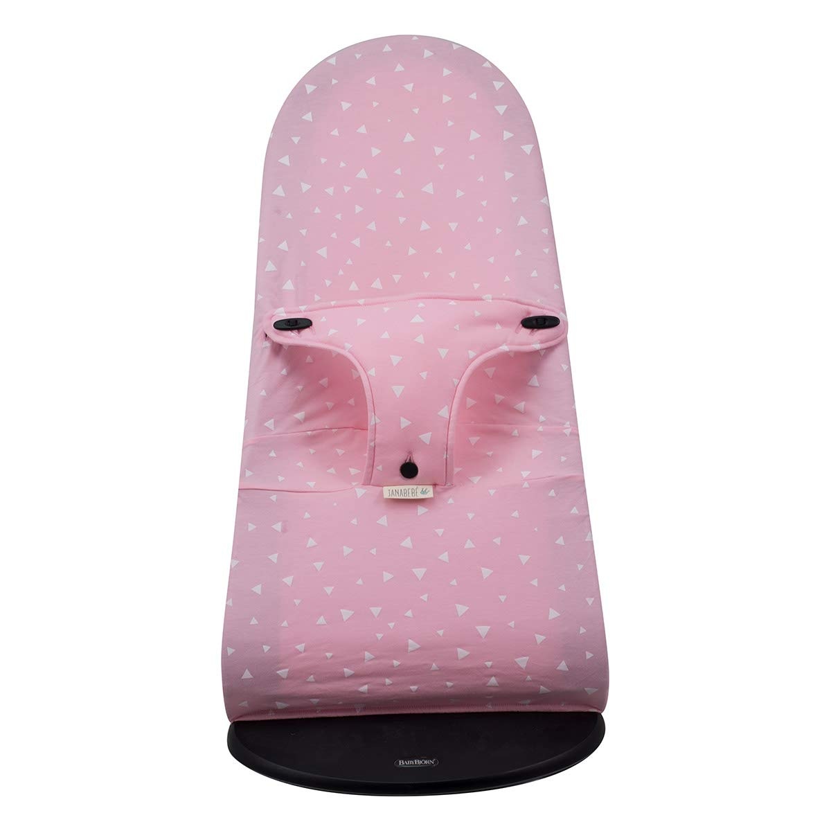 Janabebe Cover Compatible with Baby Bouncer Babybjorn Soft, Balance and Bliss (Pink Sparkles)
