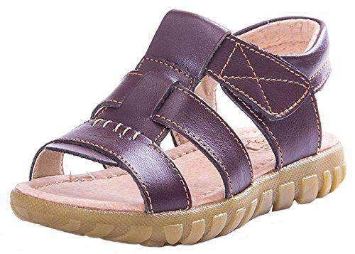 WUIWUIYU Kids' Boys' Girls' Casual Open-Toe Sandals Outdoor Sport Leather Flats Summer Beach Water Shoes by WUIWUIYU