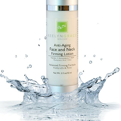 Face & Neck Firming Cream - Anti Aging Lotion Lifts & Firms | Tightens Sagging Skin | Reduces Wrinkles & Fine Lines | Smoothing & Brightening Advanced Treatment with Peptides & Hyaluronic Acid - 2 Oz.