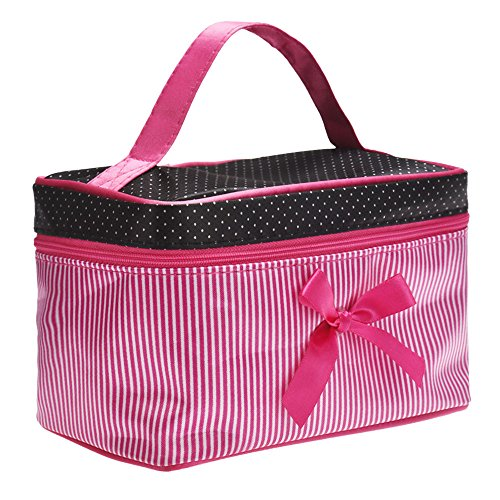 Lucrative shop Lowest Price Women's Bag Square Bow Stripe Cosmetic Bag Big Lingerie Bra