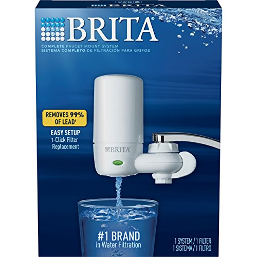 Brita 10060258422013  On Tap Faucet Water Filter System,  White