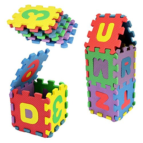 Benlet 36PCS Baby Kids Alphanumeric Educational Puzzle Foam Mats Blocks Toy Gift Puzzle Play Mats