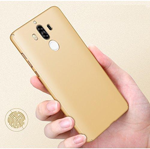 inShang funda para Huawei Mate 9 funda del teléfono móvil, anti deslizamiento, ultra delgado y ligero, Estuche, Cubierta, carcasa duro hecho en el material de la PC, frosted shell, cómodo Case Cover f Gold