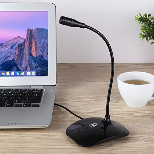 ⭐️ Klim Talk - Tabletop USB Microphone for PC and Mac - Compatible with Any Computer & Laptop - Professional Desktop Microphone - High Definition Audio Recording, Gaming, Streaming, YouTube & Podc