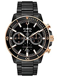 Bulova 98B302 Mens MARINE STAR Black Chronograph Watch w/ Date