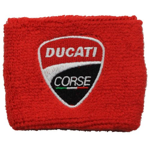 Ducati NEW Corse Red Brake Reservoir Sock Cover Fits 748, 749, 848, 848 Evo, 916, 996, 998, 999, 1598, 1198, ST2, ST3, ST4, Streetfighter, Hypermotard, Multistrada, Monster 1150