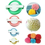 Sell4Style Pompom Pom-pom Maker for Fluff Ball DIY Wool Knitting Craft Tool 4 Sizes Set