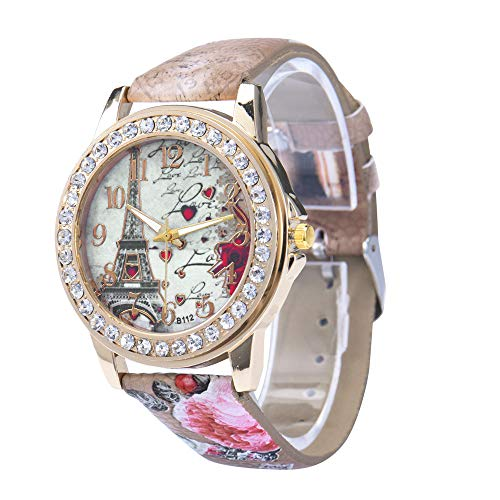 Women Silicone Printed Flower Rainbow Causal Quartz Wrist Watches Chronograph Silicone Watch from Hessimy Watches