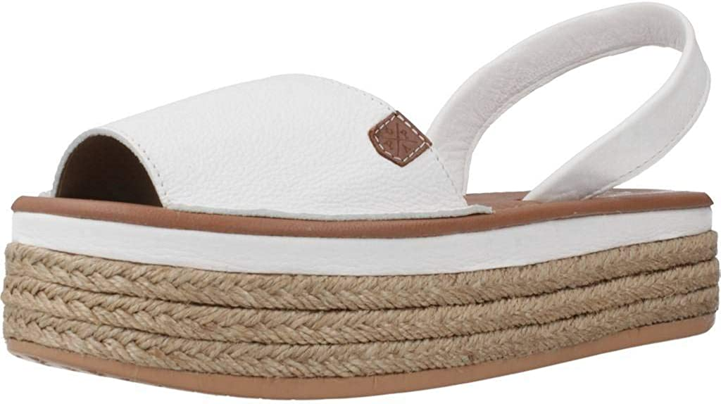 MENORQUINAS POPA 40501P Sandales Femme Blanc Blanco