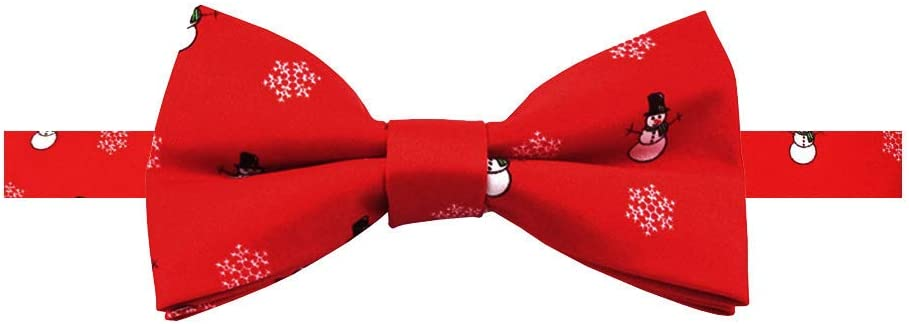 Jacob Alexander Toddler Boys Red Frosty The Snowman Snowflakes 8 inch Clip-On Neck Tie