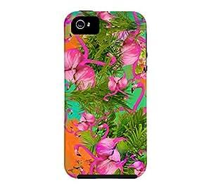 Flamingos iPhone 5/5s Black Tough Phone Case - Design By Humans