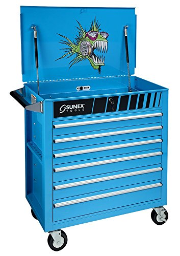 Sunex 8057NITRO Premium Full Drawer Service Cart, Nitro Fish
