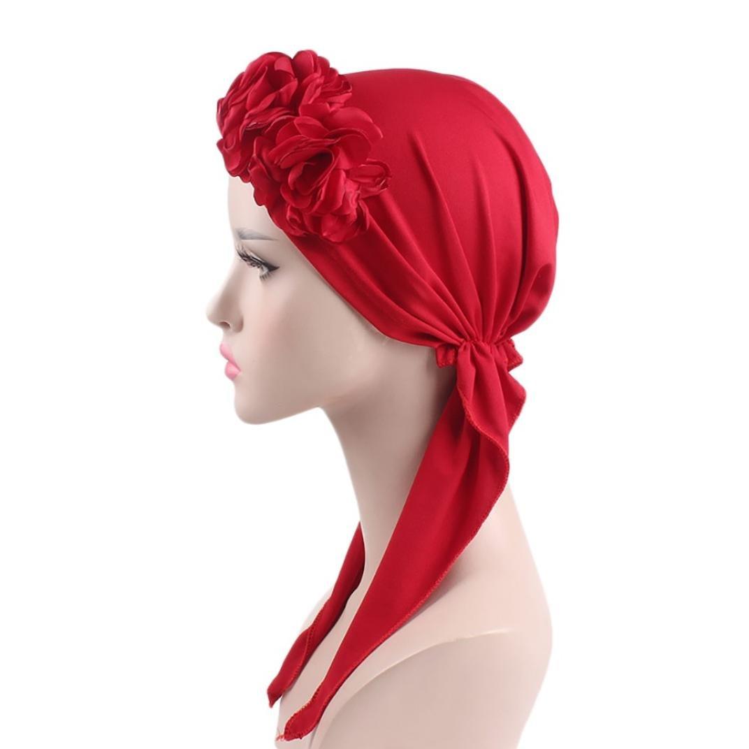 Floral Long Hair Head Scarf Headwraps Headwear Turbans for Women by WOCACHI US-WS576514933