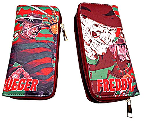 Nightmare on Elm Street Freddy Krueger Hand Purse Zip Around Clutch -