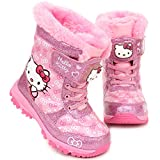 Joah Store Hello Kitty Girls Light Up Winter Pink Warm Cute Snow Boots (Parallel Import/Generic Product) (11 M US Little Kid)