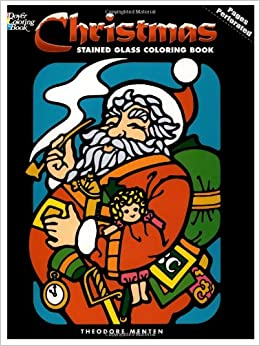 Christmas Stained Glass Coloring Book Holiday