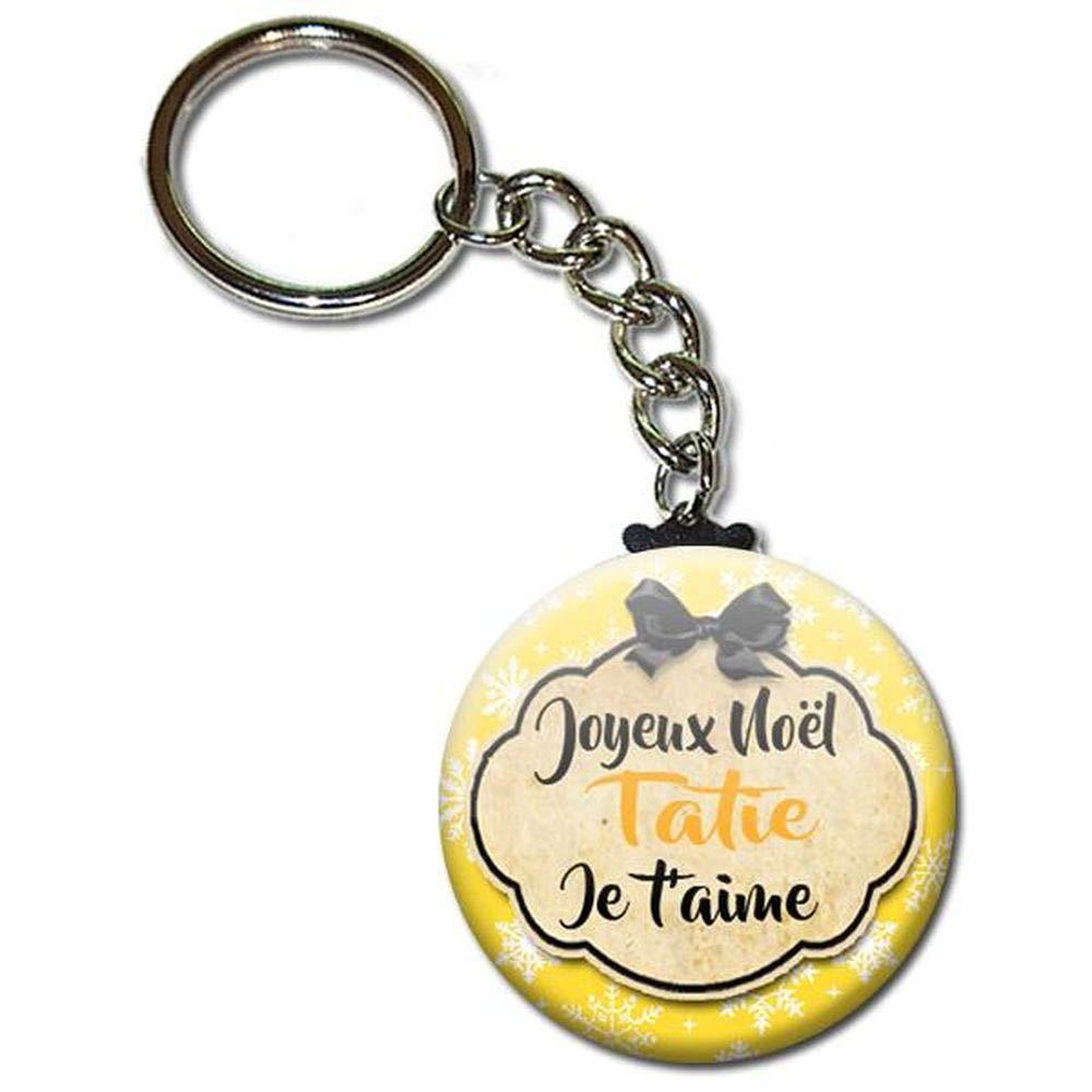 ♥ Joyeux Noël Tatie je t' aime ♥ PORTE CLÉS Chaînette 3, 8 cm (idée cadeau tatie) 8 cm (idée cadeau tatie)