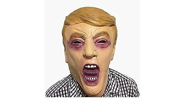 Tarjeta Donald Trump Celebrity Látex Máscara, Presidente Estadounidense Político Fancy Dress Gran Punto De Conversación: Amazon.es: Deportes y aire libre