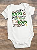 Little Boys Onesie - Rifles, Racks, and Deer Tracks Are What Little Boys Are Made Of, 3-6 Months