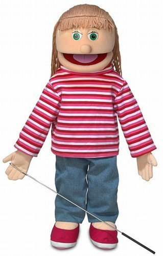 "25"" Emily, Peach Girl, Full Body, Ventriloquist Style Puppet"