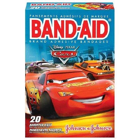 Band-Aid Adhesive Bandages Disney Pixar Cars, 3 Assorted Sizes - 20 ct]()