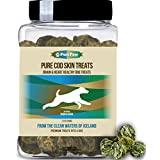 Organic Raised Wild Fish Treats Icelandic Pure Cod Skins or Lobster & Kelp Reward Protein Snacks Rich in EPA & DHA K9 Brain Heart Skin & Coat Health