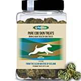 Organic Raised Wild Fish Treats Icelandic Pure Cod Skins or Lobster & Kelp Reward Protein Snacks Rich in EPA & DHA K9 Brain Heart Skin & Coat Health For Sale