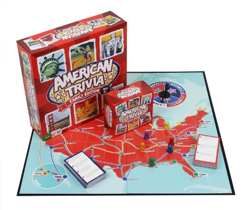 Outset Media Trivia Game - American Trivia Family Edition - the America Themed Family Board -