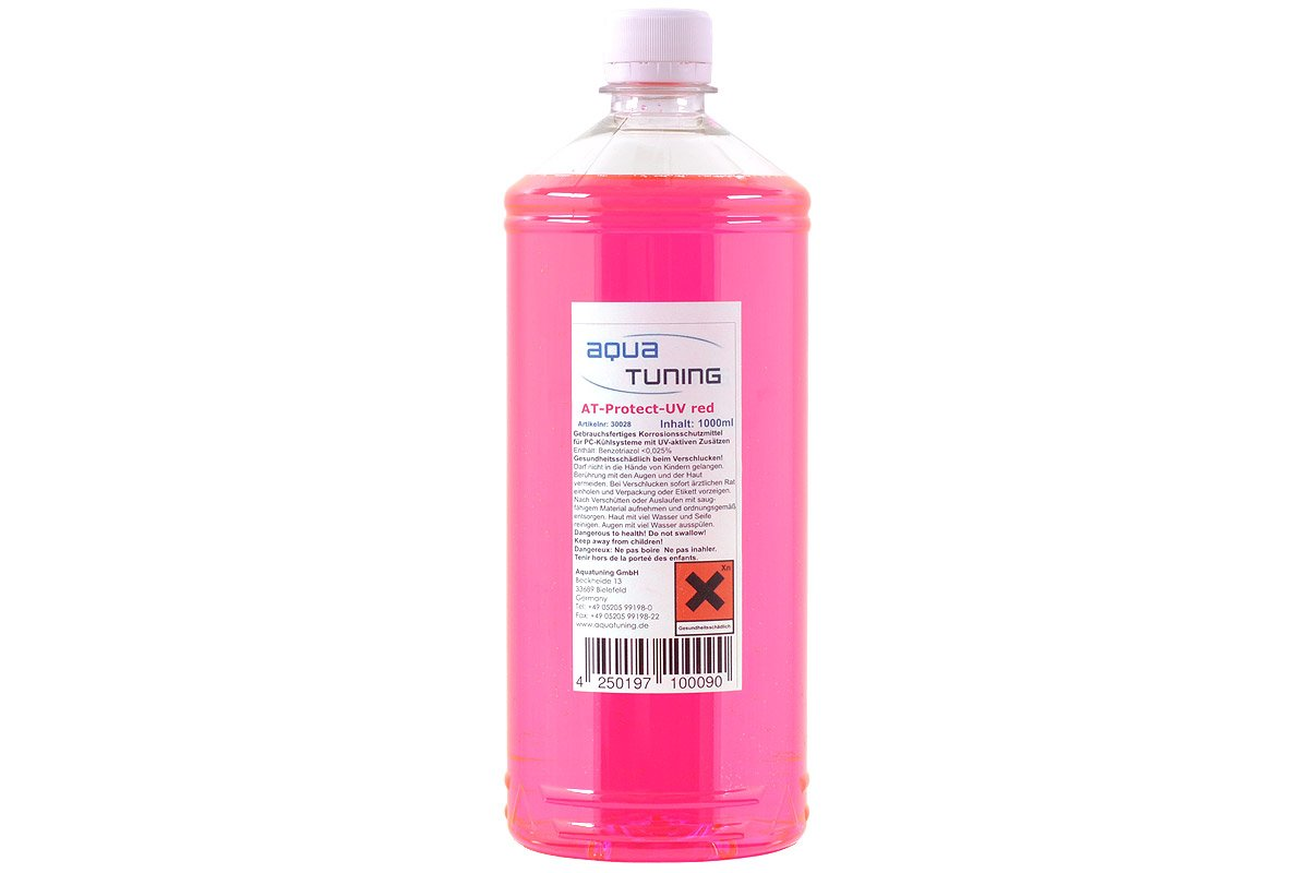 Aquatunung AT Protect UV RED Coolant 1000ml For PC Liquid Cooling Ready to Use