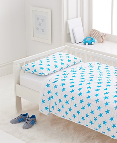 aden + anais classic toddler bed in a bag; fluro blue