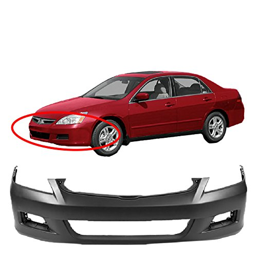 Honda Accord Sedan Bumper Cover - MBI AUTO - Primered, Front Bumper Cover 2006 2007 Honda Accord Sedan, HO1000235