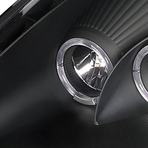Led Halo Housing Spec-D Tuning LHP-ELP00JM-RS Black Projector Headlight