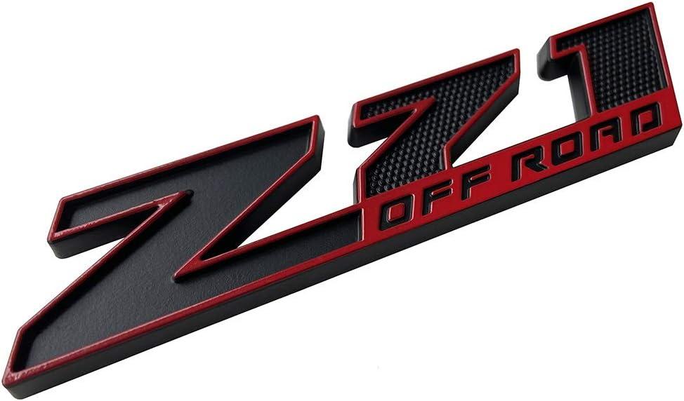 Matte black 3D Badge Replacement for GMC Chevy Silverado Sierra Suburban Colorado 2014-2018 2Pcs Z71 OFF ROAD Emblems
