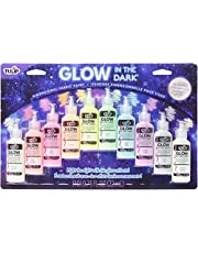 Tulip Glow in The Dark Dimensional Fabric Paint, (Pack of 10), 0.75 FL OZ 10 Pack, Permanent, Washable 7