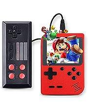 Sanbee Consola Portatil de Videojuegos, Consola de Juegos Retro con Pantalla de 3 Pulgadas, 400 Juegos Clásicas, 1 Extra Joy-con Incluido,Soporta 2 Jugadores (Rojo)