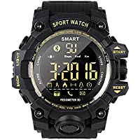 LCLrute EX16S Multifonction étanche Bluetooth Smart Watch Smartwatch Sports Smart Watch Con Caméra,Health Mate pour Android iOS