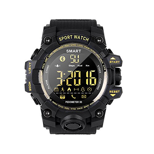 Finedayqi EX16S Multifunction Waterproof Smart Watch Remote Camera for Android for iOS (Black)