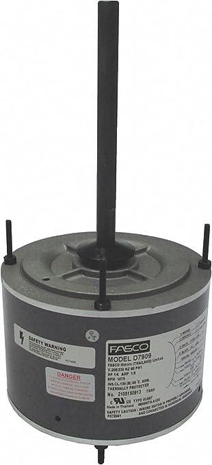 1/8 HP Condenser Fan Motor, Permanent Split Capacitor, 1125