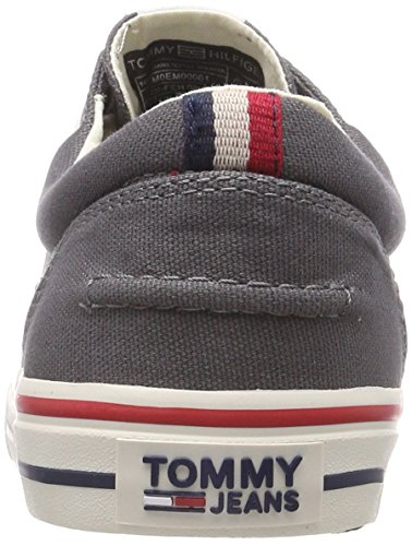 Tommy Jeans Hilfiger Denim Men's Textile Low-Top Sneakers Grey (Steel Grey 039) clearance shopping online looking for discount pick a best free shipping really FPnn8LD