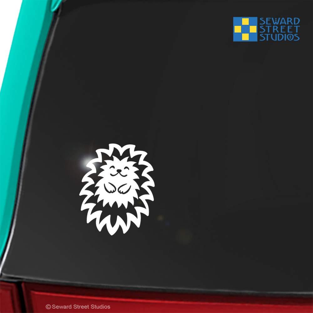 Hedgehog Vinyl Decal Cute Hedgie Window Sticker Hedgehog Mom Laptop Decal #803 Pet Hedge Pig Window Transfer // 3.75h x 3w