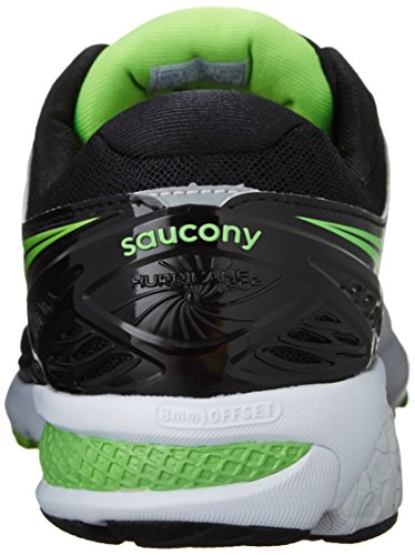 Women's Silver 2 Slime Black Shoe Saucony Hurricane Running ISO OZBZx