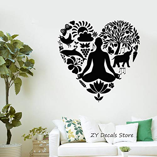 zqyjhkou Yoga Tatuajes de Pared Estilo de Vida Saludable ...