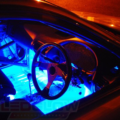 Amazon ledglow 2pc 7 color led car truck underdash footwell amazon ledglow 2pc 7 color led car truck underdash footwell interior light kit 36 leds control box music strobe fade flash modes automotive aloadofball Gallery