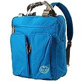 ecsem Baby Diaper Bag Travel Backpack Shoulder Bag Fit Stroller Changing Pad (Blue)