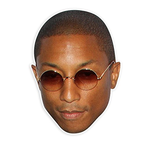 Serious Pharrell Mask - Perfect for Halloween, Masquerade, Parties, Events, Festivals, Concerts - Jumbo Size Waterproof