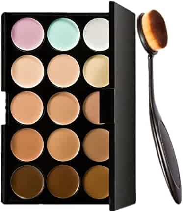 Start 15 Colors Concealer Eye shadow palette kit &Makeup Toothbrush Curve Brush