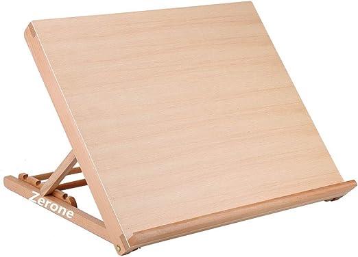 zerone tabla de dibujo (madera, caballete de mesa escritorio A2 ...